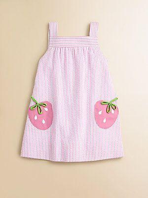 Florence Eiseman Toddler's Little Girl's Seersucker Strawberry Dress - inspiratie