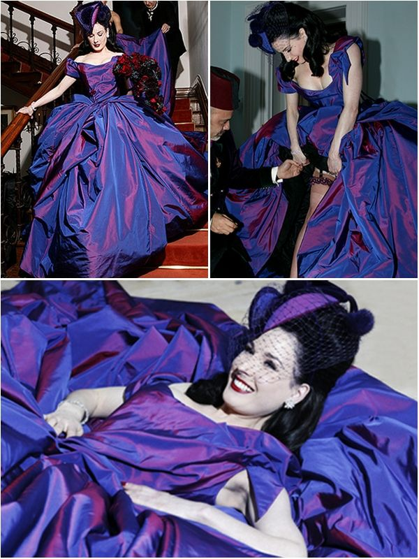 2b5872815922 Celebrity Weddings  Dita Von Teese Wedding Dress