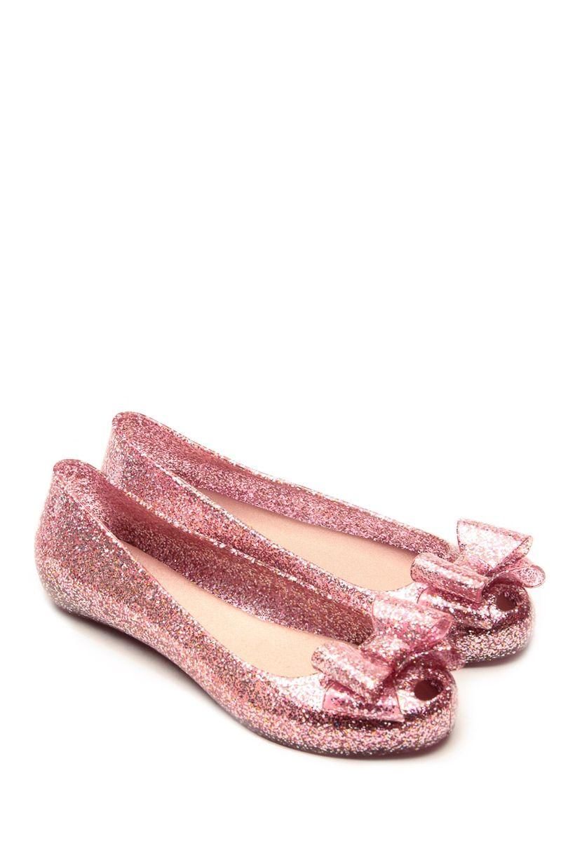 0b6c4f8ef950 Glaze Fuchsia Delilah Bow Glitter Jelly Flats   Cicihot Flats Shoes online  store Women s Casual Flats