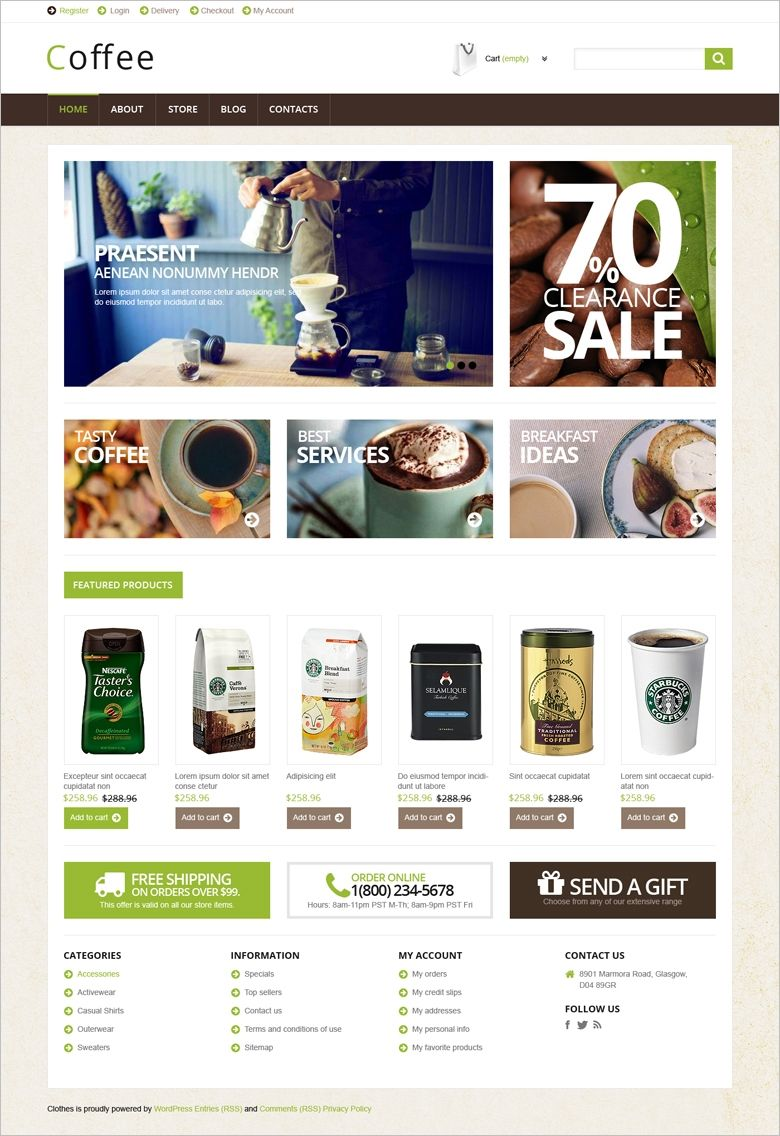 Quality one page shopping cart website template vector eps, modern.