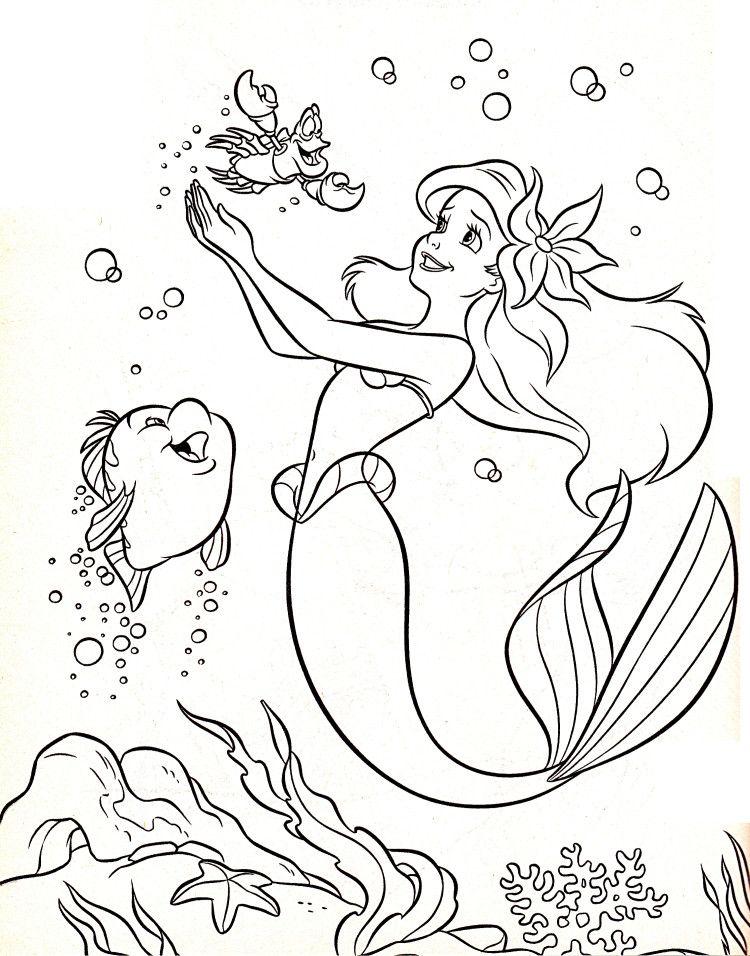 Disney Coloring Pages Flounder Sebastian Princess Ariel Sereias Para Colorir Ariel Para Colorir Cores De Sereia