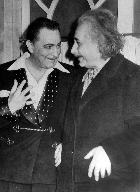 John Barrymore and Albert Einstein, Princeton, New Jersey by Unknown Artist