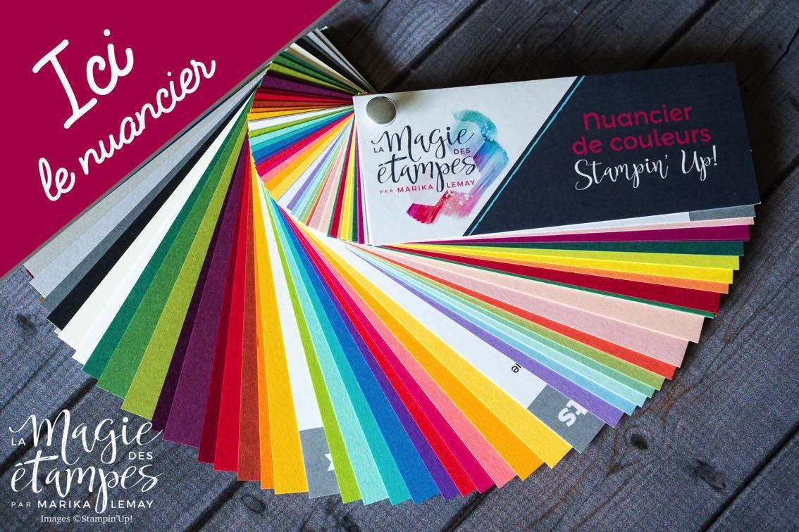 Nuancier des couleurs stampin greeting cards cards