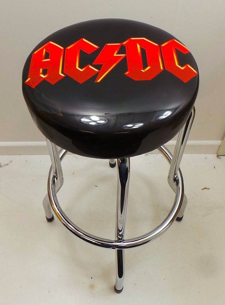 ac/dc rock bar stool black/red | taburetes de bar | pinterest, Wohnzimmer dekoo