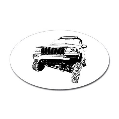 Jeep Grand Cherokee Poser Wj Sticker Oval Jeep Grand Cherokee