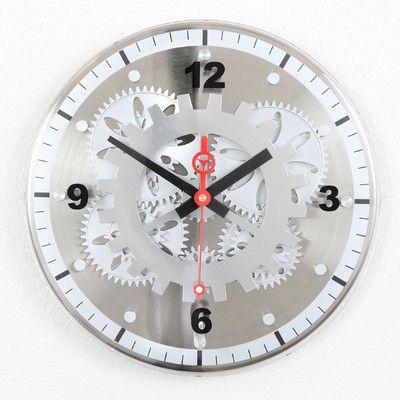 Maples Clock 12 Moving Gear Wall Clock Gear Wall Clock Wall Clock Glass Contemporary Wall Clock