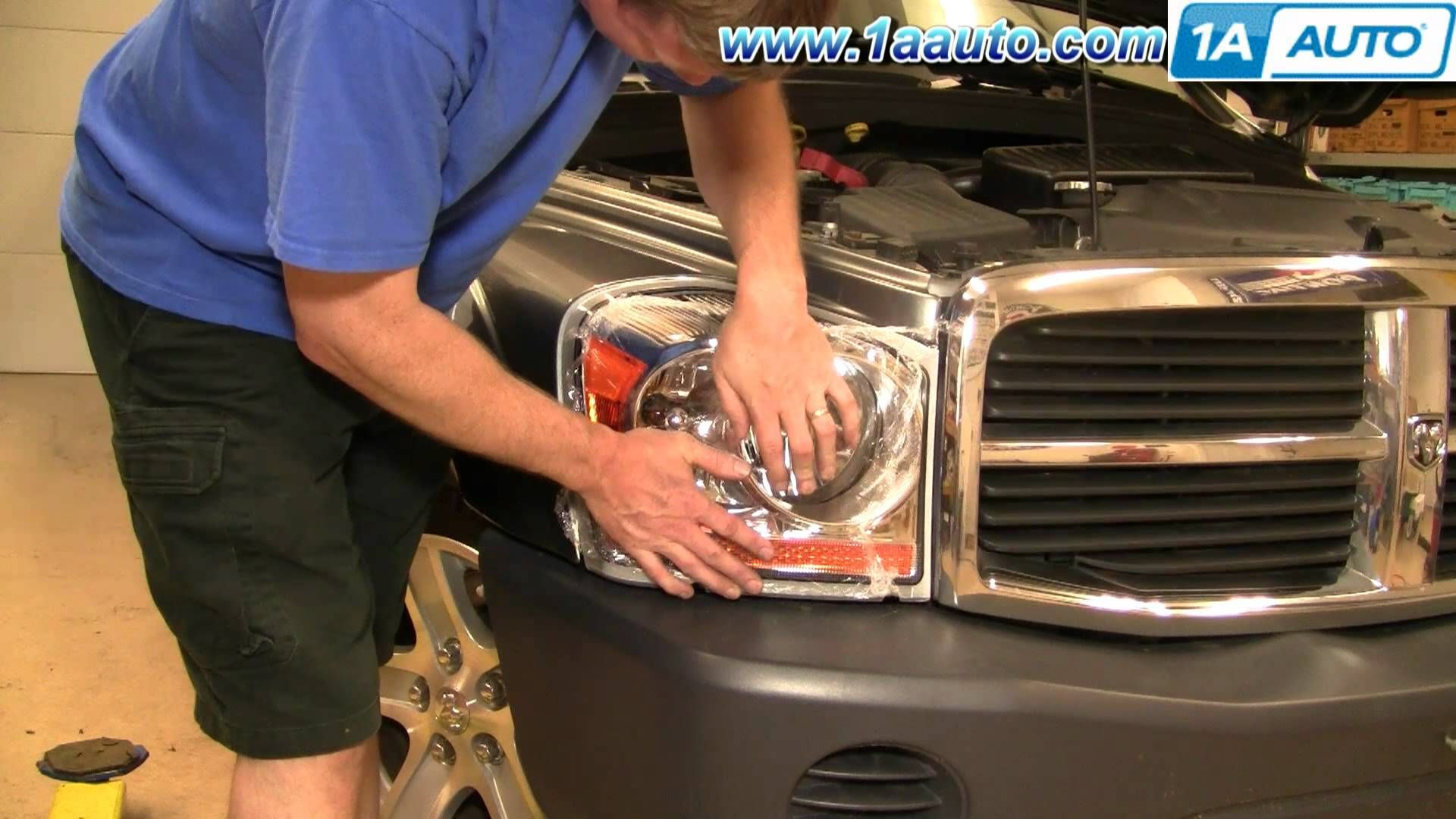 How To Install Replace Headlight And Bulb Dodge Durango 04 06 1aauto Peoria