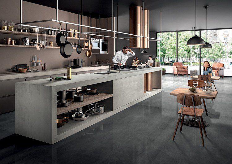 Professionelle Küche Mit Keramik Arbeitsplatten