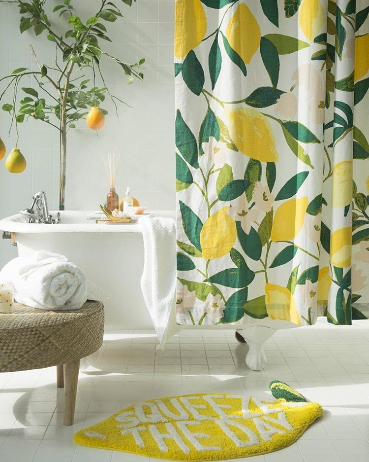 Squeeze The Day Bath Mat Home Decor Accessories Interior Home