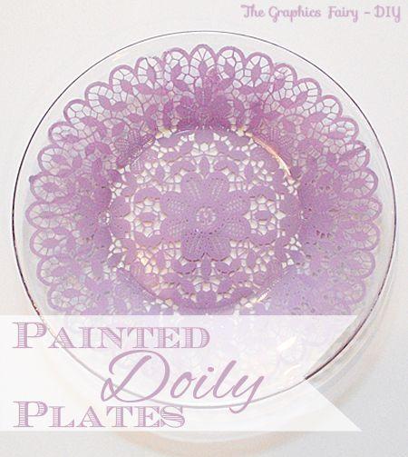 diy Painted Doily Plates by THELMA TOFANI