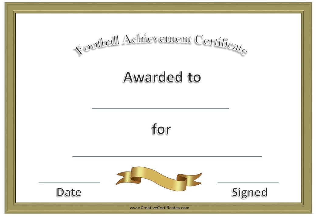 Football awards football pinterest football awards high a variety of free printable football certificates that can be customized online many more free sports awards and award certificates on this site yelopaper Images