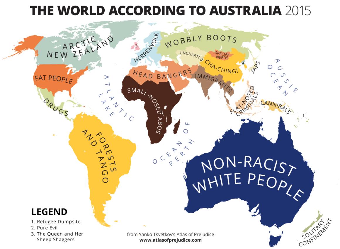 The world according to australia 2015 australia pinterest the world according to australia vivid maps gumiabroncs Choice Image