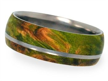 Mens and Womens Titanium Wedding Rings inlaid by jewelrybyjohan