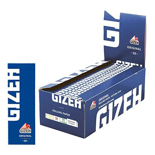 50 Booklets GIZEH ORGINAL Rolling Paper Blue Box 2500 Papers ** You can find more details by visiting the image link.