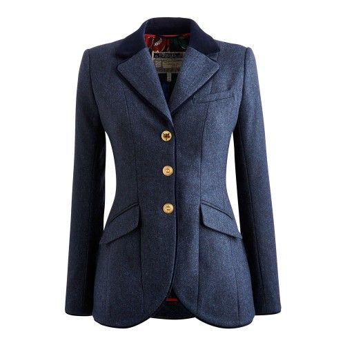 513776e78a488 Joules Parade Navy Tweed Jacket | Ladies Clothing | Millbry Hill - A great  alternative to the normal 'Green' Tweed... this Navy Tweed jacket from  Joules is ...