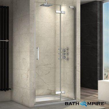 1000 Mm Hinged Door Shower Enclosure Easyclean Bathempire Shower Cubicles Shower Doors Shower Enclosure