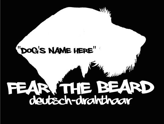 fd1c6980ee12 Home   Kitchen Fear the Beard Deutsch Drahthaar Car Window Vinyl Decal  Sticker