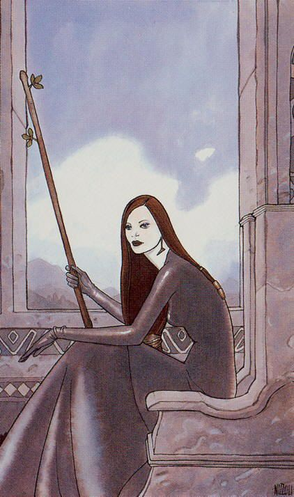 Queen of Wands - Secret Tarot by Marco Nizzoli | queen of wands ...