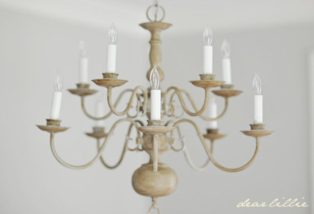 Making Over A Chandelier With Chalk Paint Dear Lillie Painted Chandelier Diy Chandelier Painting Light Fixtures