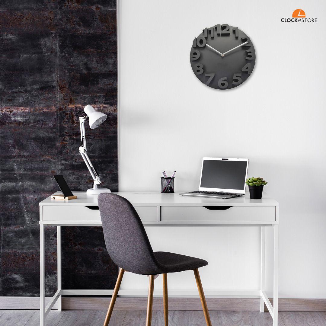 Inspiring Black Clock Australia Decor Home And Office Decor In 2020 Contemporary Wall Clock Home Black Decor