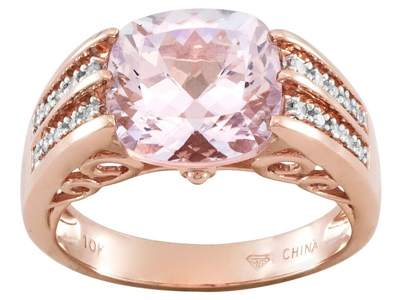 Pink Kunzite 10k Rose Gold Ring 4 24ctw Rings Rose Gold Gold