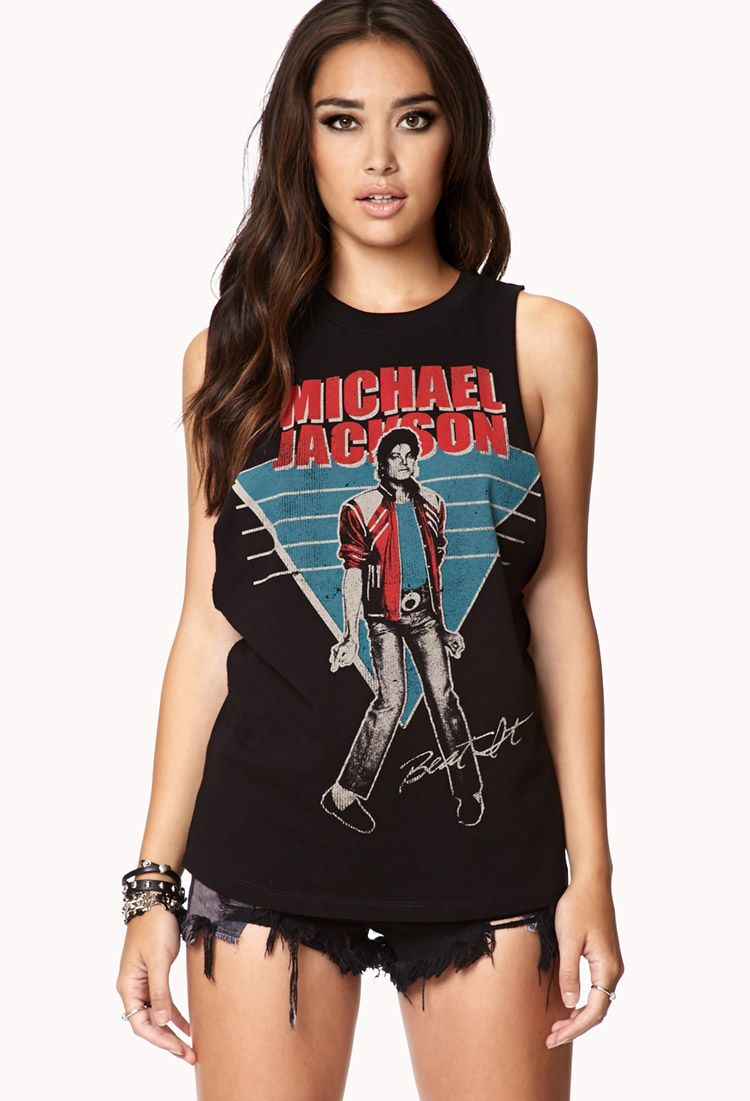 Black t shirt michaels - Just Bought This Michael Jackson Muscle Tee
