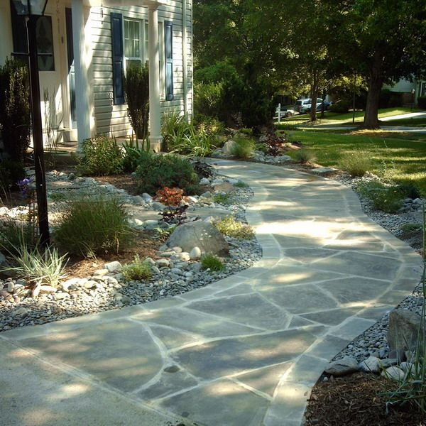 front patio walkways ideas hardscape walkway flagstone stone walkway