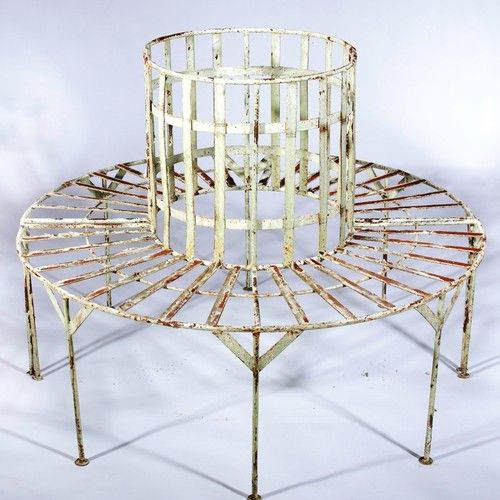 Wrought Iron Tree Surround Bench Arusticgarden Ebay With Images