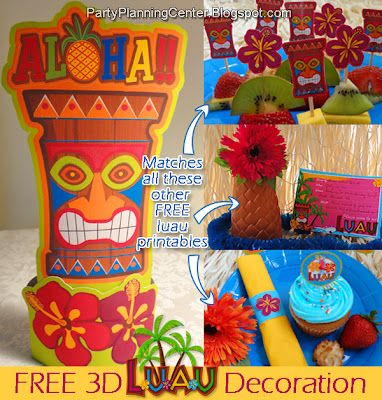 Time To Party! FREE Birthday Party Printables Galore! | Luau party ...