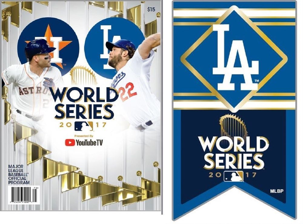 2017 Los Angeles Dodgers Championship World Series Game Program Banner Pin Los Angeles Dodgers World Series Dodgers