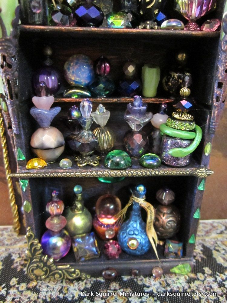 The Snake Charmer Potions Cupboard Ooak Dollhouse Miniature In One Inch Scale   Via Etsy