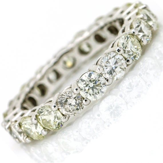 dd3c0e5acad Diamond Eternity Band 3.23 Carat 14k White Gold Ring in 2019 ...