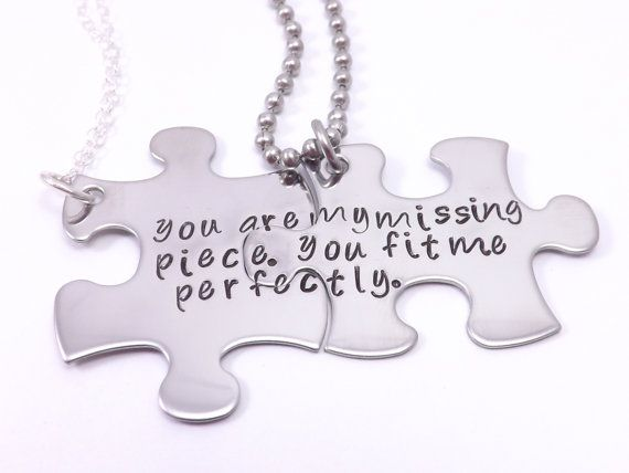 e84cee3c28 The Original You Are My Missing Piece, You Fit Me Perfectly- Personalize  Your Own His and Her Puzzle Piece Necklace Set, Couples Jewelry by ...