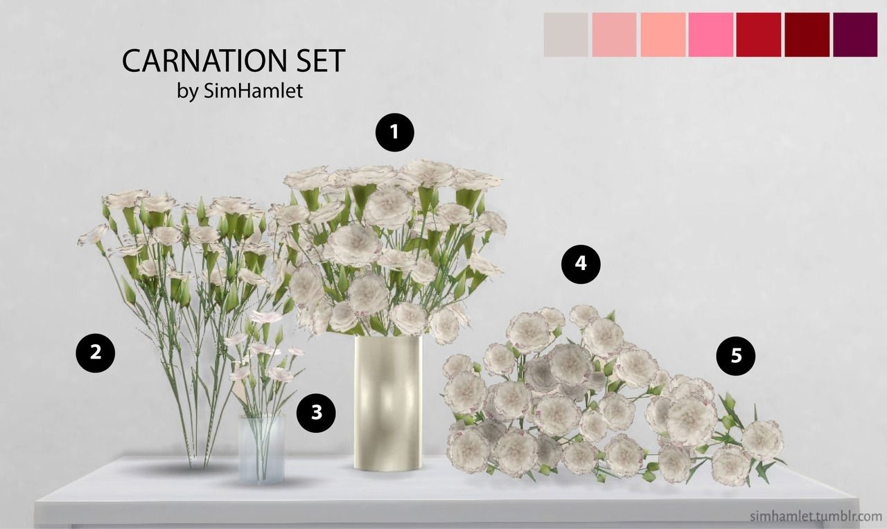 Carnation set by simhamlet sims 4 mods sims 4 sims 4