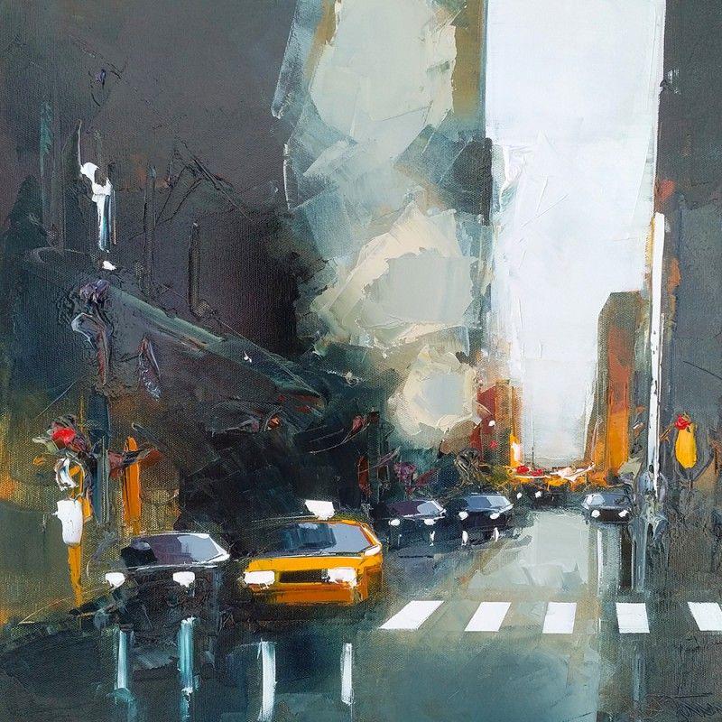 Oeuvre urbaine paysage urbain daniel castan huile for Castan peintre