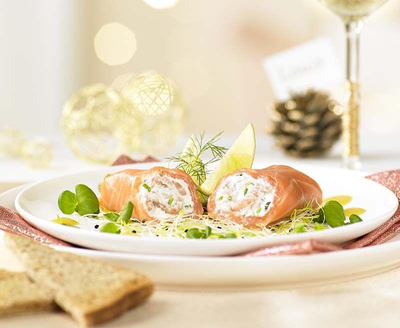Zalmcannelloni gevuld met ricotta en grijze garnalen - Colruyt Culinair !