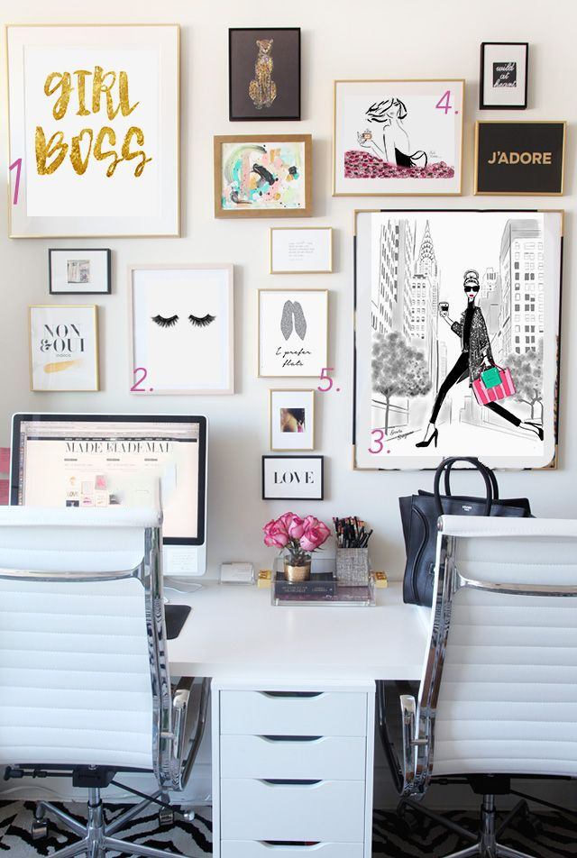 chic office essentials desk inspiration offices and home office decor - Home Office Decor