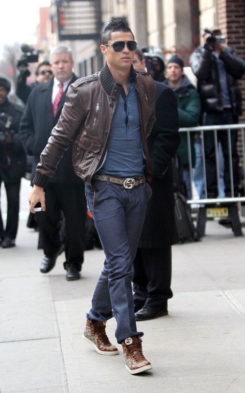 7a466aa8b902af Even Christiano Ronaldo wear s our lover Brown Gucci Leather Trim Belt .  Buy now   http