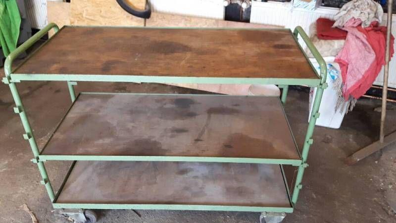 Küchentisch Hoch ~ Roll tisch mit drei böden 2 davon in der höhe verstellbar140 breit