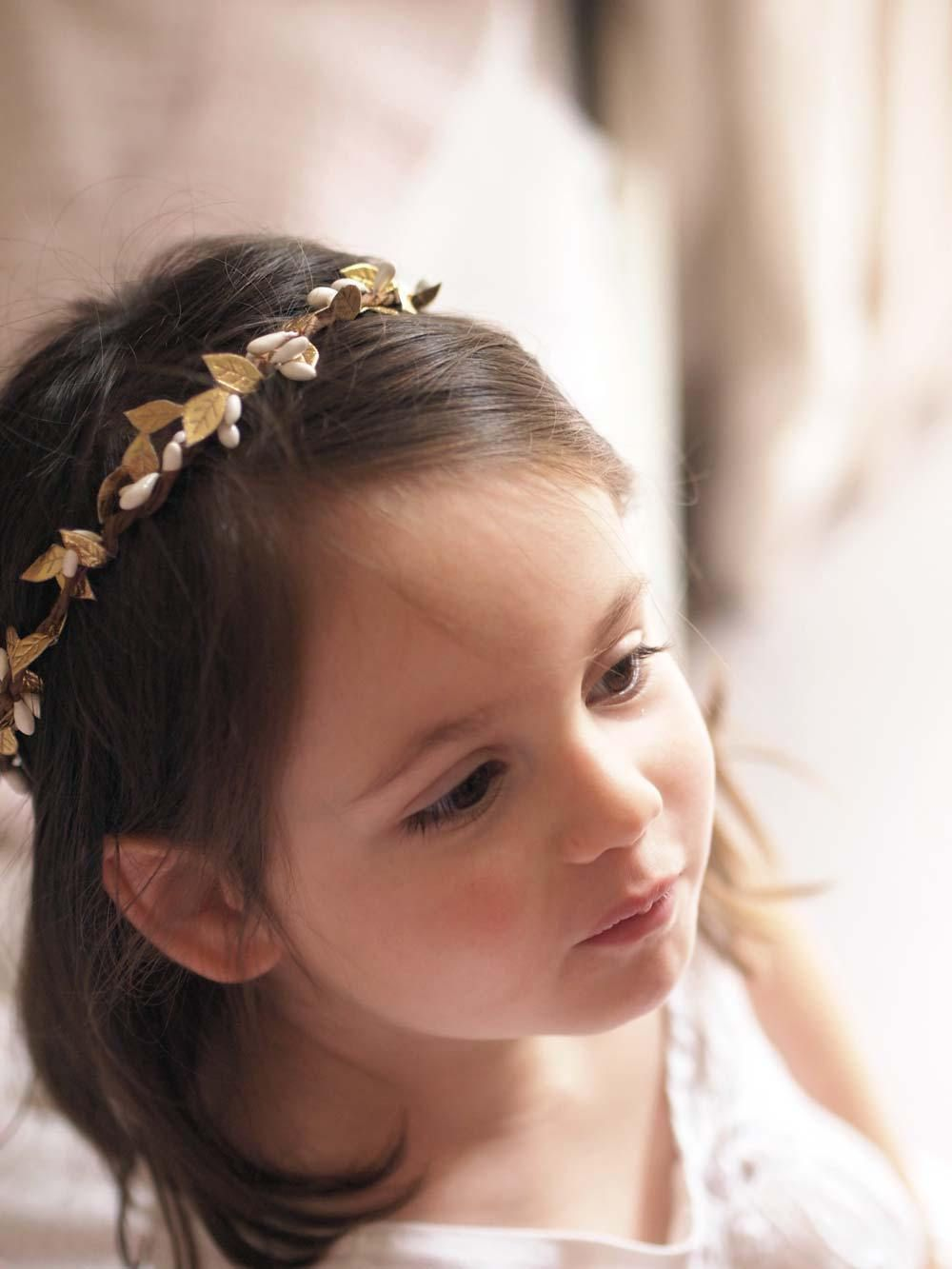 imelda gold boho laurel leaf baby and girls crown in 2019