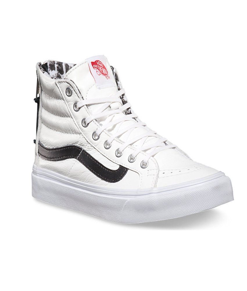 b4c24fca5f vans sk8 hi slim zip leather true white snow leopard