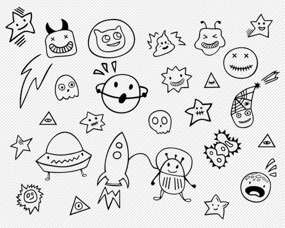 Space Theme Clipart Space Vector Svg Space Halloween Clipart