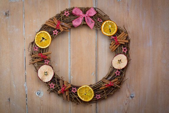 Christmas Wreath Decorated With Dried Fruit Free By Debilou1