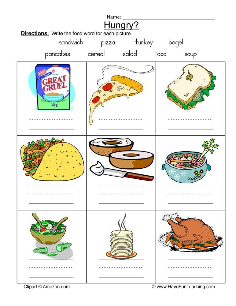 Food Names Worksheet Word Bank in 2020 Food names