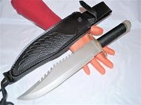 "FATA MORGANA 14 - 15"" Survival Combat Knife - Handle Storage."