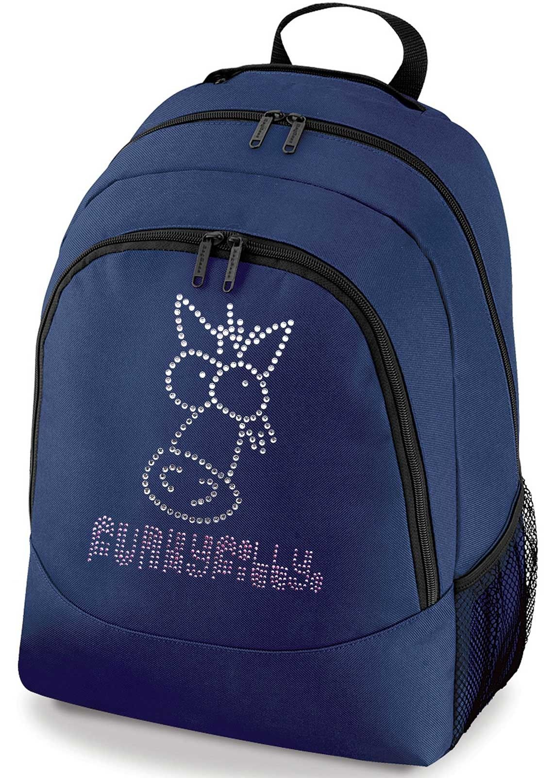Funky Filly Diamante Sparkly Horse Head School Backpack Horse Head f56fa4bba93ab