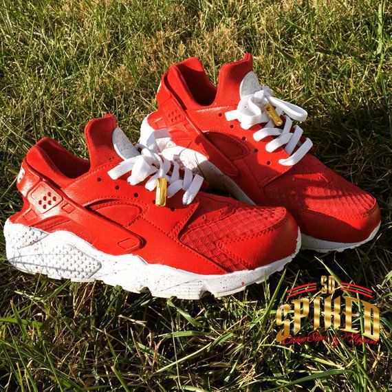6f5e5e8871a8 Custom Kids Red Nike Huaraches with Splattered soles (see other listing for  men and women)