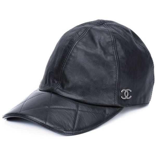 Chanel Vintage quilted baseball cap (€995) ❤ liked on Polyvore featuring  accessories 42585dee39b