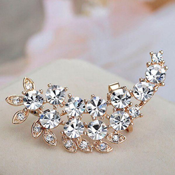 Wholesale ONE PIECE Stylish Women's Rhinestone Decorated Ear Cuff Only $1.06 Drop Shipping | TrendsGal.com