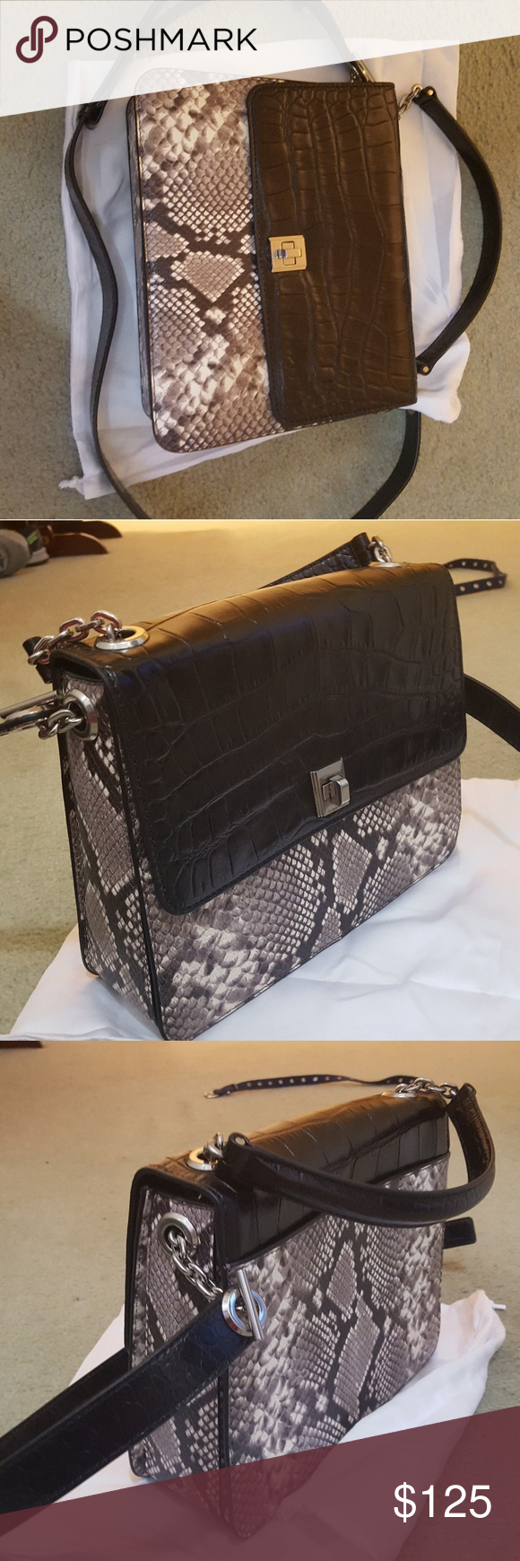 7a7dd352c37b Michael Kors purse NWOT faux snakeskin purse. Dimensions are 8 inch tall by 10.5  inch wide and 3 inch deep. Michael Kors Bags Crossbody Bags